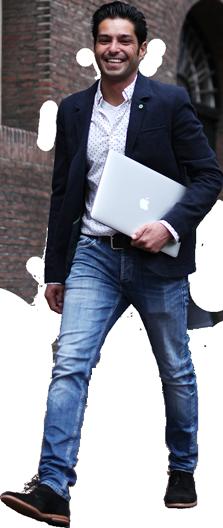 Vincent van Es Macbook lopend